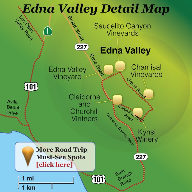 Edna Valley Visitor Guide Map