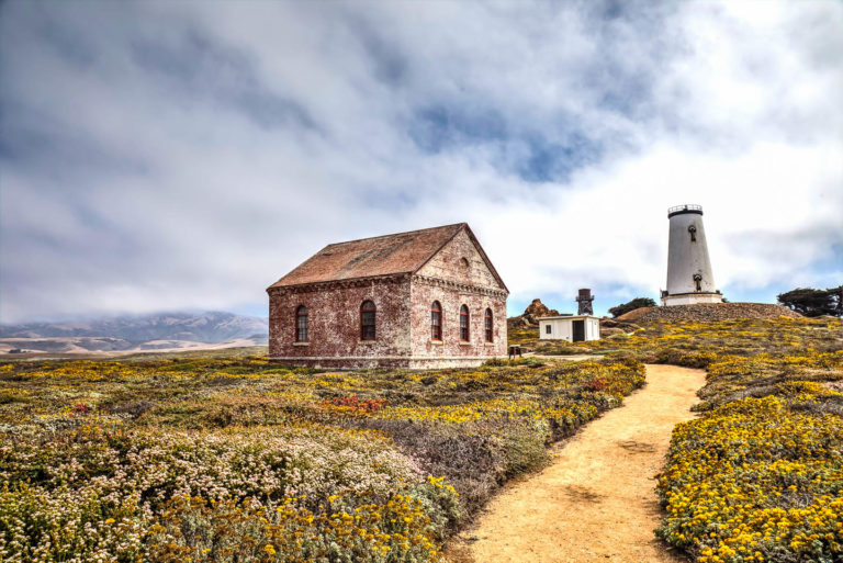 Piedras Blancas Lighthouse in San Simeon on Highway 1