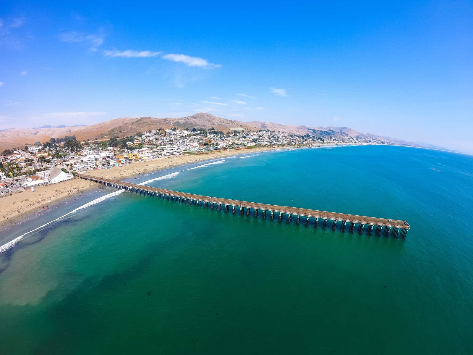 Cayucos Pier from the air