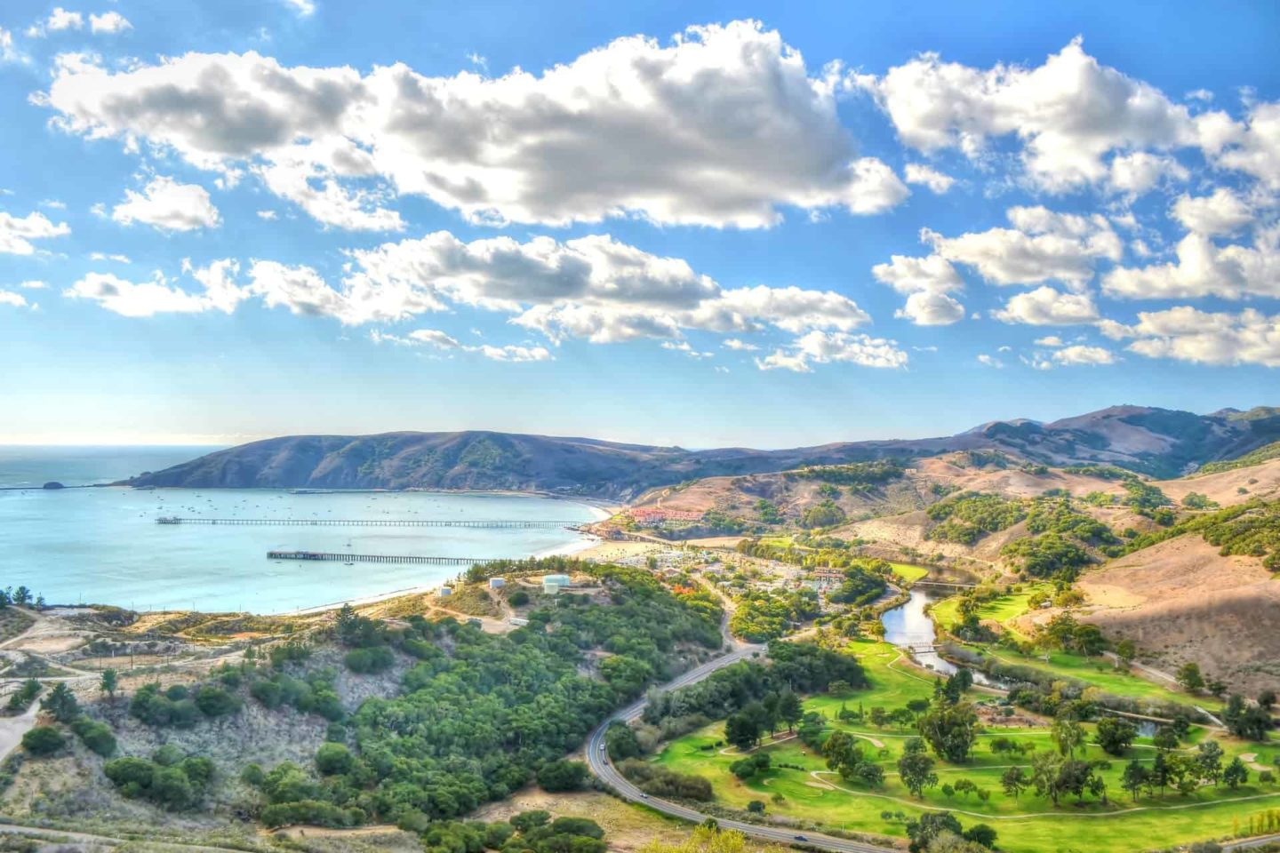 Drone view of Avila Beach